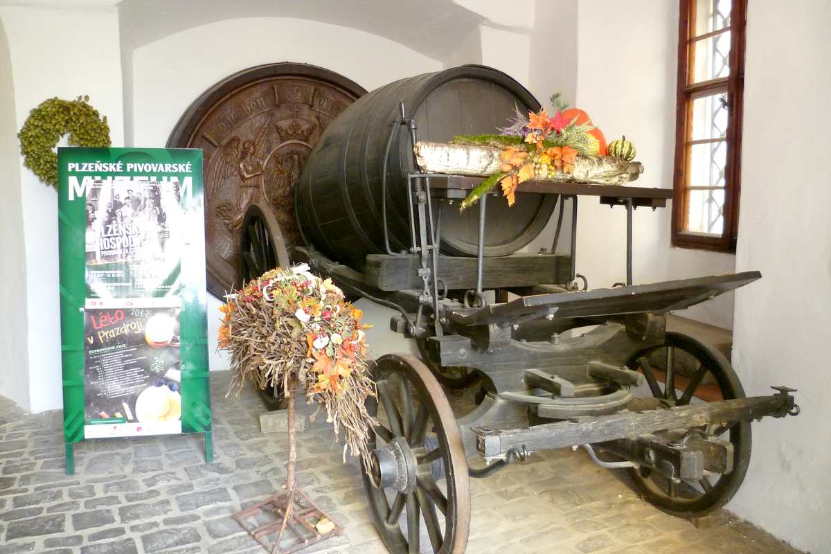 Pilsen tourists sights: Brewery museum will take you to the past time when started the production 