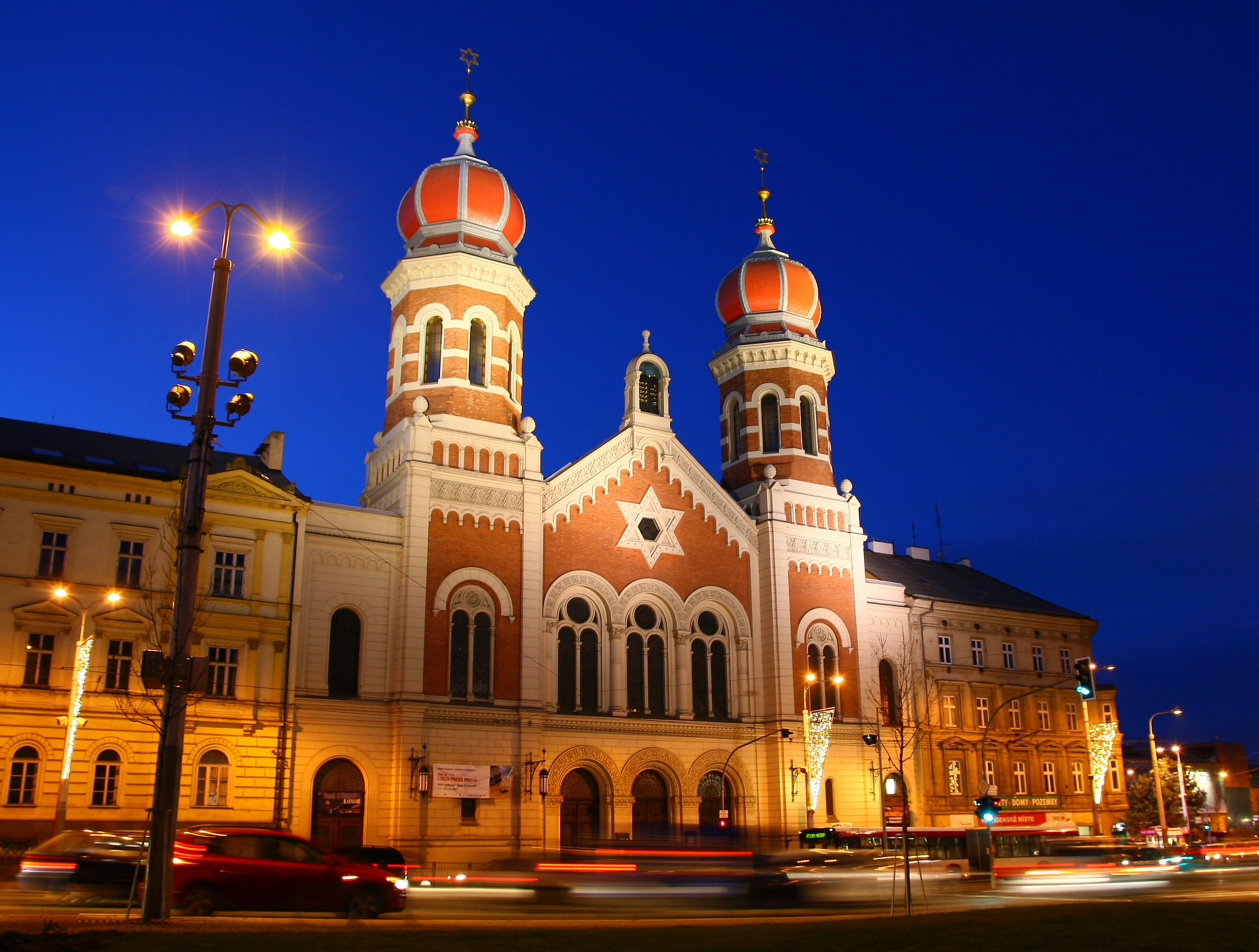 Pilsen tourists attractions: The Great Synagogue in Plzeň.